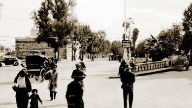 شارع النصر ومئذنة مسجد المولوية عام 1942