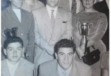صورة من ذكريات ابطال العرب في اولمبياد عام (1950)