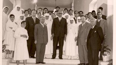 صورة إفتتاح مشفى القدموس شباط 1958