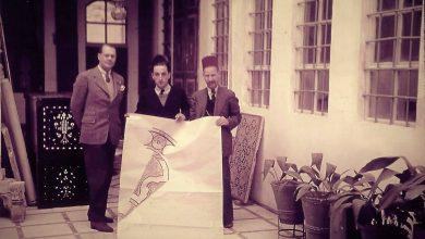 دمشق 1938 - تشارلز أصفر في الوسط ومحمد خياط على يساره