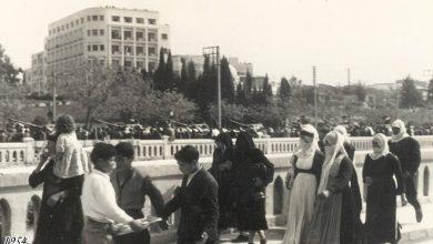 دمشق 1954- من إحتفلات عيد الجلاء..