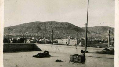 دمشق 1943- أفراد سلاح الجو الملكي البريطاني على سطح فندق الشرق الكبير