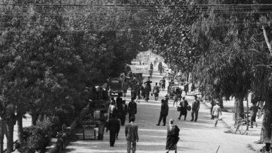 دمشق 1942 -شارع النصر بدمشق من الشرق الى الغرب