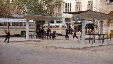 دمشق- شارع النصر و باص دمر و الهامة في مطلع خمسينيات