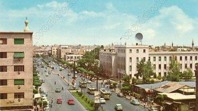 دمشق 1965- شارع النصر ومبنى الهاتف الألي