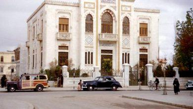دمشق- شارع النصر و مبنى لجنة مياه عين الفيجة بداية الخمسينيات