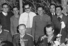 حمص 1954- العقيد زياد بن خليل الأتاسي مع مجموعة من الضباط