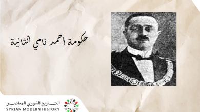 حكومة أحمد نامي الثانية