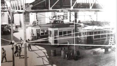 صورة دمشق 1939- محطة الكهرباء والترامواي