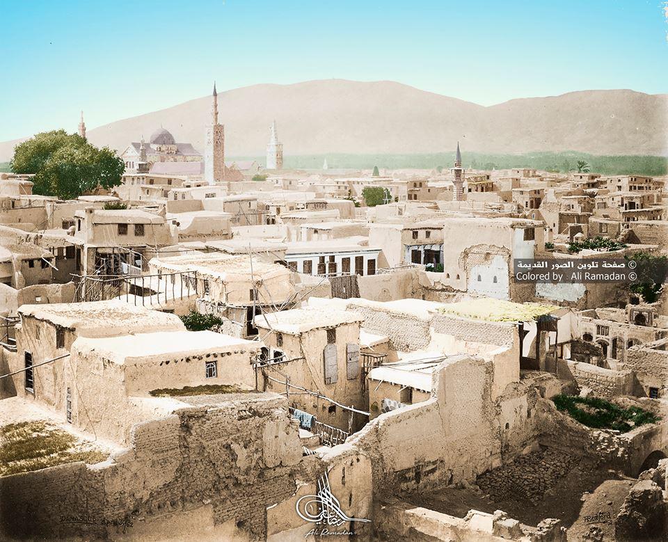 صورة نادرة لدمشقعام 1862