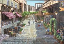 صورة دمشق – مقهى النوفرة
