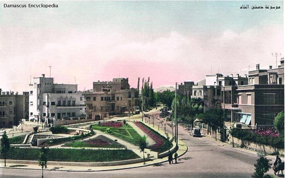 دمشق - حديقة الروضة وشارعي أبو العلاء المعري وأبو جعفر المنصور