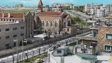 حلب -كنيسةو مدرسة الفرنسيسكان في الخمسينيات