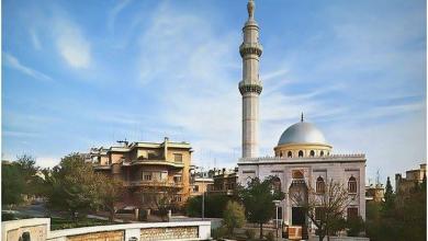 دمشق 1960- مسجد الروضة و حديقة أبو العلاء المعري