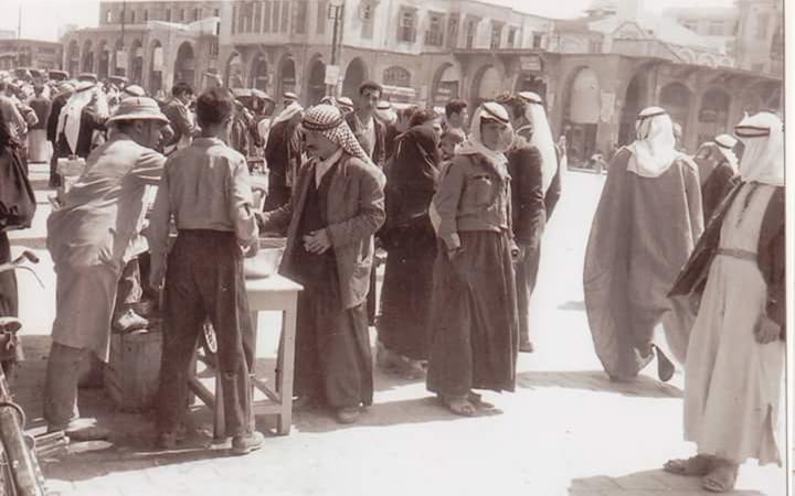 حمص : ساحة باب السوق في الخمسينيات