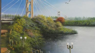 صورة جسر دير الزور المعلق على نهر الفرات
