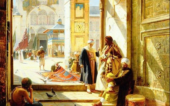 البوابة الشمالية للمسجد الأموي في دمشق