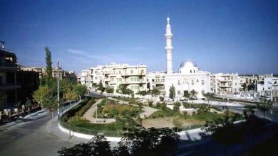 دمشق 1958- حديقة الروضة / أبو العلاء المعري ومسجد الروضة