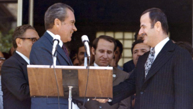 حافظ الأسد والرئيس الأميركي نيكسون