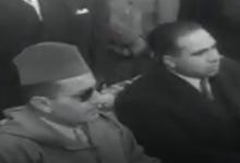 صورة الملك المغربي أثناء زيارته لمدينة دمشق ومخيم اليرموك