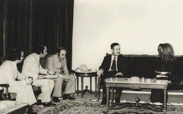 دمشق 1973 - حافظ الأسد يستقبل المطربة فيروز