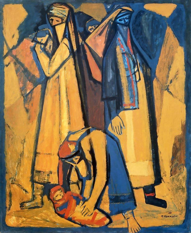 لوحة للفنان محمود حماد