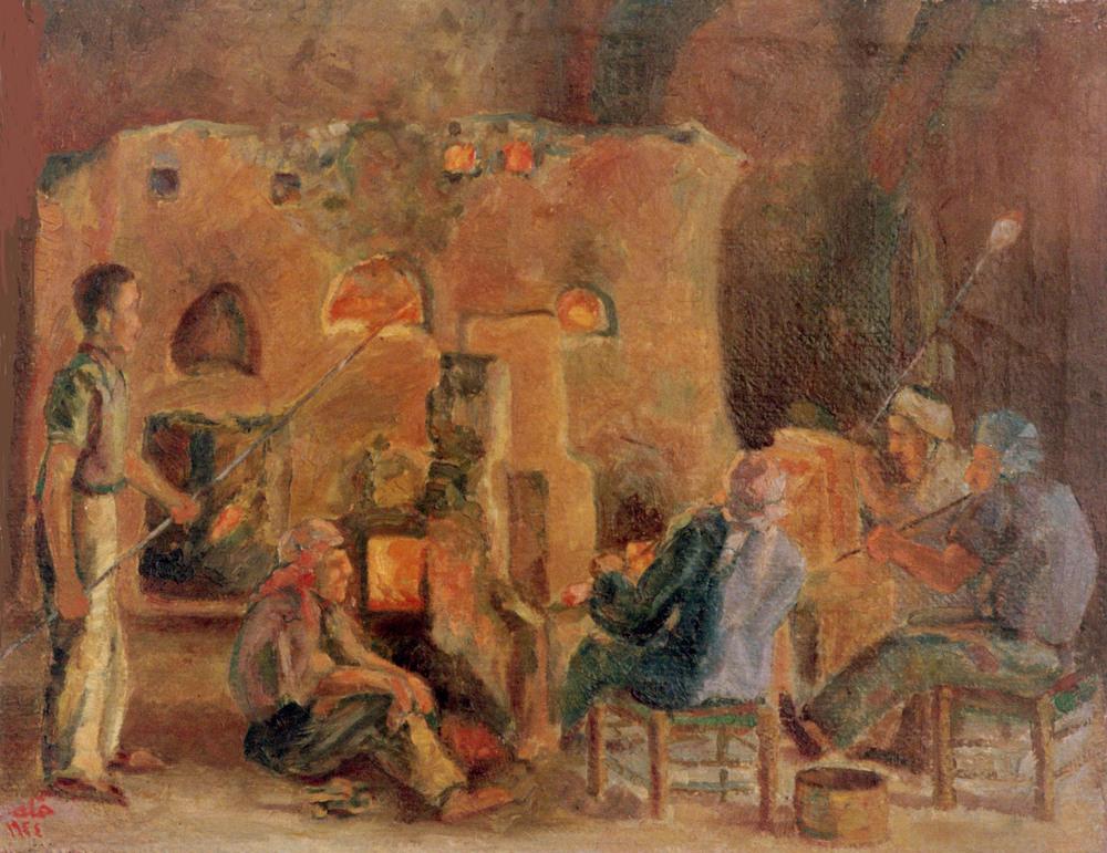 لوحة معمل الزجاج .. للفنان محمود حماد (2)