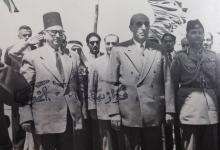 صورة شكري القوتلي والرائد بهاء الدين الخوجة في عمان 1957