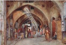 صورة دمشق – سوق علي باشا عام 1907م