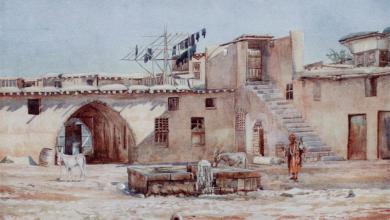 صورة خان في دمشق 1905م