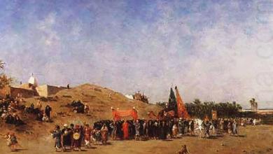 صورة موكب العروس الى دمشق 1856م