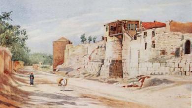 صورة دمشق من جهة السور الشرقي – عام 1907م