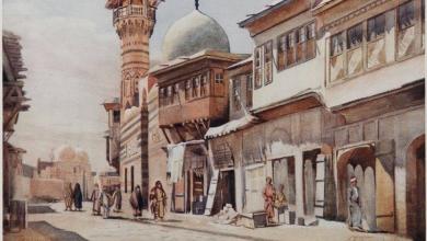 صورة دمشق- المدرسة الصابونية عام 1905م