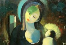 صورة العذراء.. لوحة للفنان أسعد زكاري