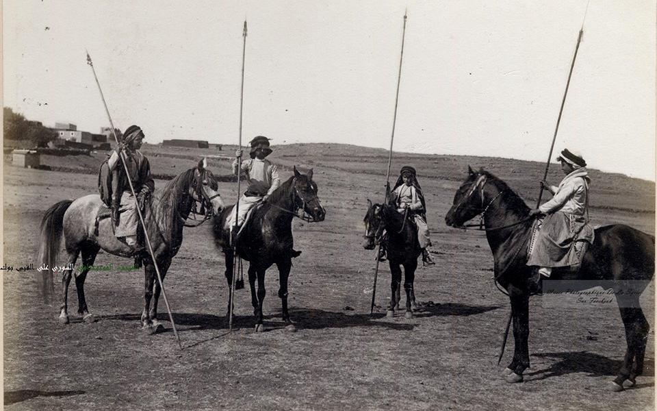 فرسان من عائلة الدندشي في تل كلخ 1890