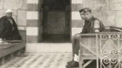 دمشق 1954- مدخل ضريح الناصر صلاح الدين الأيوبي..
