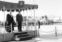 صورة الرئيس حافظ الأسد يستقبل الملك فيصل