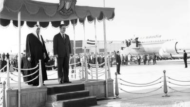 الرئيس حافظ الأسد يستقبل الملك فيصل