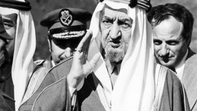 الملك فيصل بن عبد العزيز على هضبة الجولان