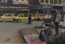 صورة لوحة – شارع الحميدية وجامع الدالاتي في حمص