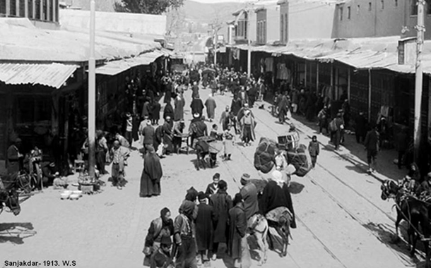 دمشق 1913- محلة السنجقدار و سوق الخجا القديم
