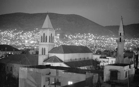 دمشق في الخمسينيات -  كنيسة اللاتين ومدرسة دار السلام