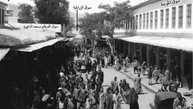 دمشق - السنجقدار و سوق الخجا بداية القرن العشرين