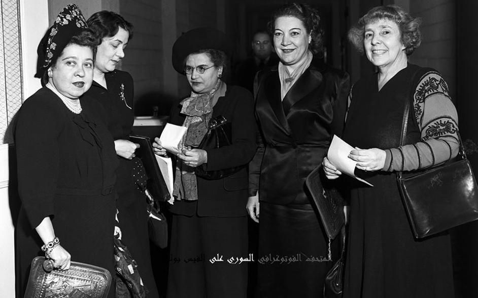 أليس قندلف ممثلة سورية في اجتماعات الأمم المتحدة عام 1948م