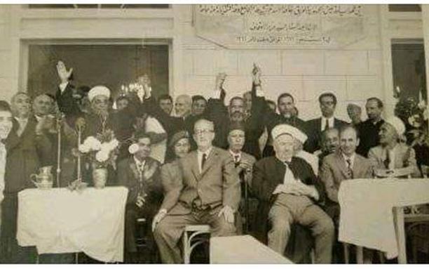 اللاذقية 1971- عبد الستار السيد وزير الأوقاف في افتتاح جامع كسب
