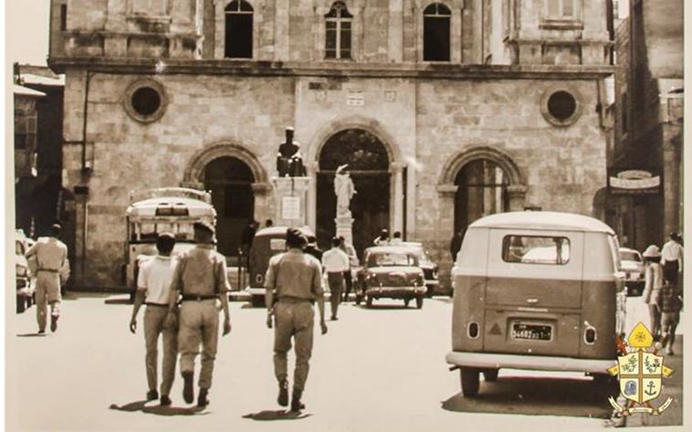 حلب 1968- واجهة كاتدرائية مار الياس المارونية