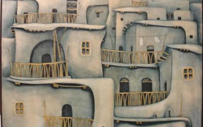 معلولا 16 - لوحة للفنان لؤي كيالي