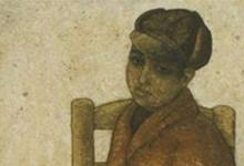 صورة الفتى ذو السترة الحمراء.. لوحة للفنان لؤي كيالي