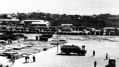 اللاذقية 1957- الرصيف والمرفأ وجانب من المدينة