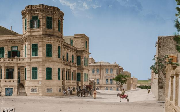 صورة منطقة العزيزية في حلب مطلع القرن العشرين